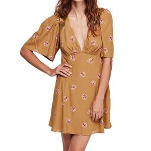 Free People Mockingbird Embroidered Dress)NWT